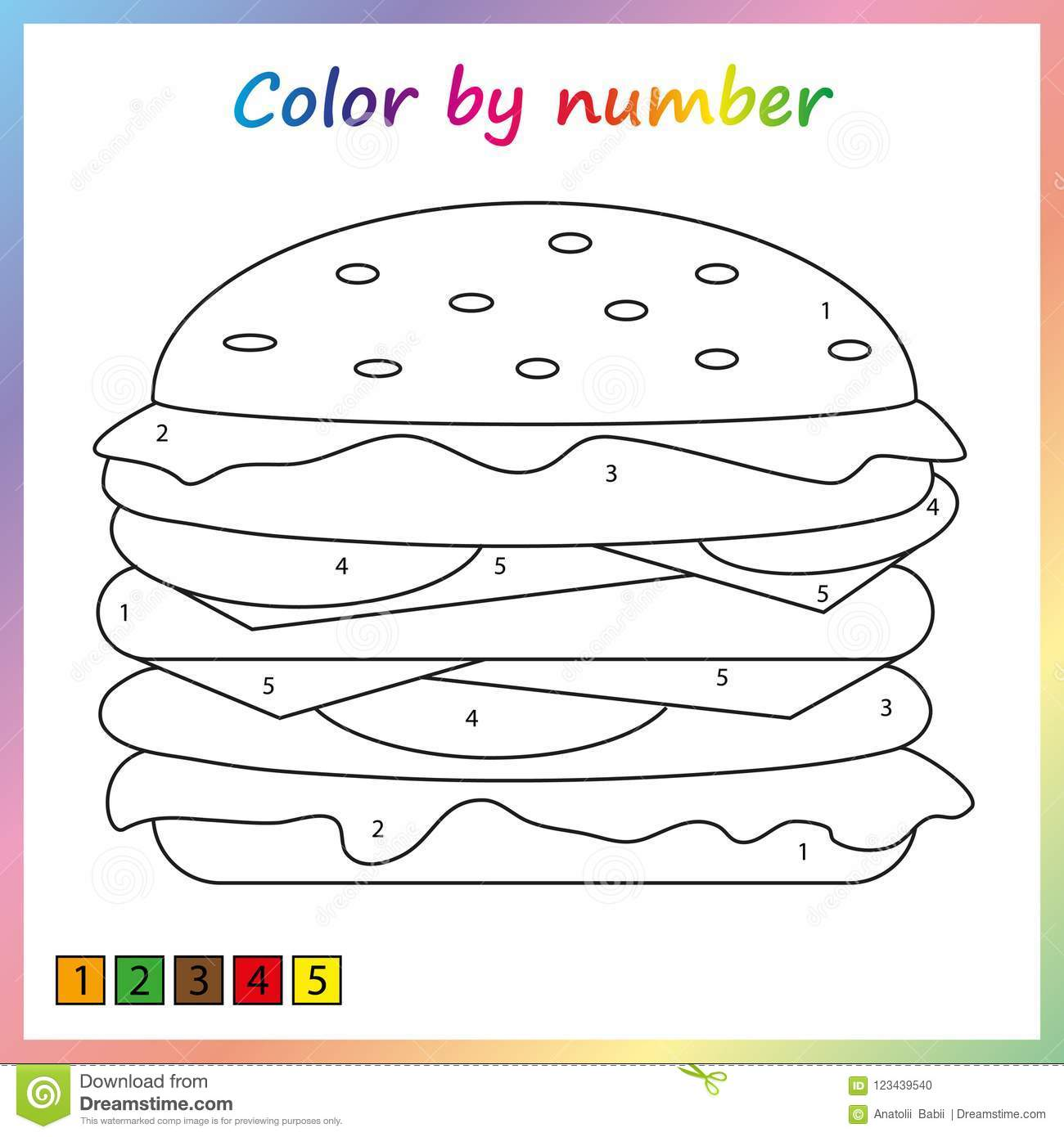 Worksheet For Education. Painting Page, Color By Numbers ...