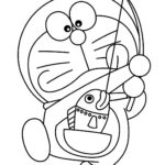 Colouring Pages Of Doraemon And His Friends