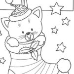Free Printable Christmas Kitten Coloring Pages