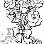 Printable Coloring I Love You Mom Coloring Pages