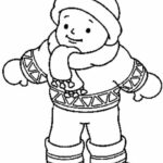 Coloring Pages Winter Clothes
