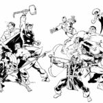 Avengers Coloring Pages Printable Kids