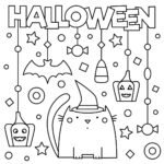 Spooky Halloween Coloring Pages Printable
