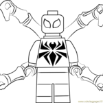 Coloring Pages Spiderman Lego