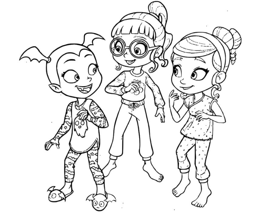 Get This Vampirina Coloring Pages Vampirina with Poppy and ...