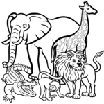 Free Preschool Coloring Pages Of Zoo Animals