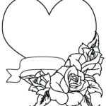 Hearts And Roses Coloring Pages Printable