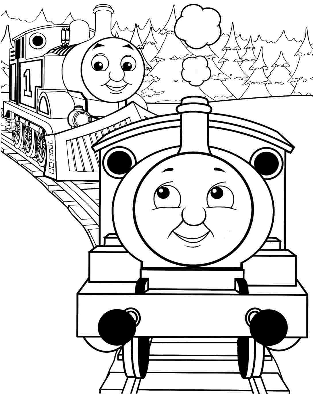 Cartoon Train Coloring Pages at GetColorings.com   Free ...