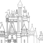 Castle Coloring Pages Easy