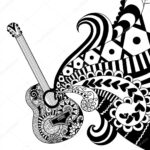 Printable Guitar Coloring Pages For Adults