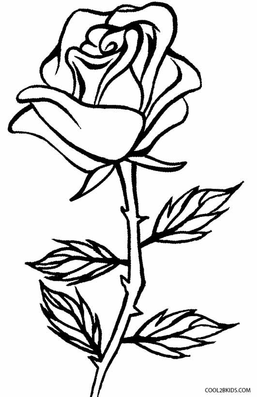 Printable Rose Coloring Pages For Kids   Cool2bKids   Rose ...