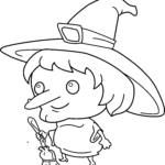 Coloring Pages Witch Hat