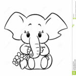 Baby Elephant Coloring Pages Printable