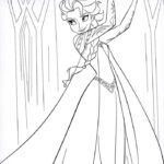 Queen Elsa Printable Coloring Pages