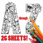 Alphabet Coloring Sheets For Adults