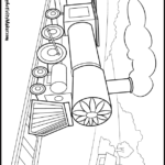 Coloring Pages Freight Train