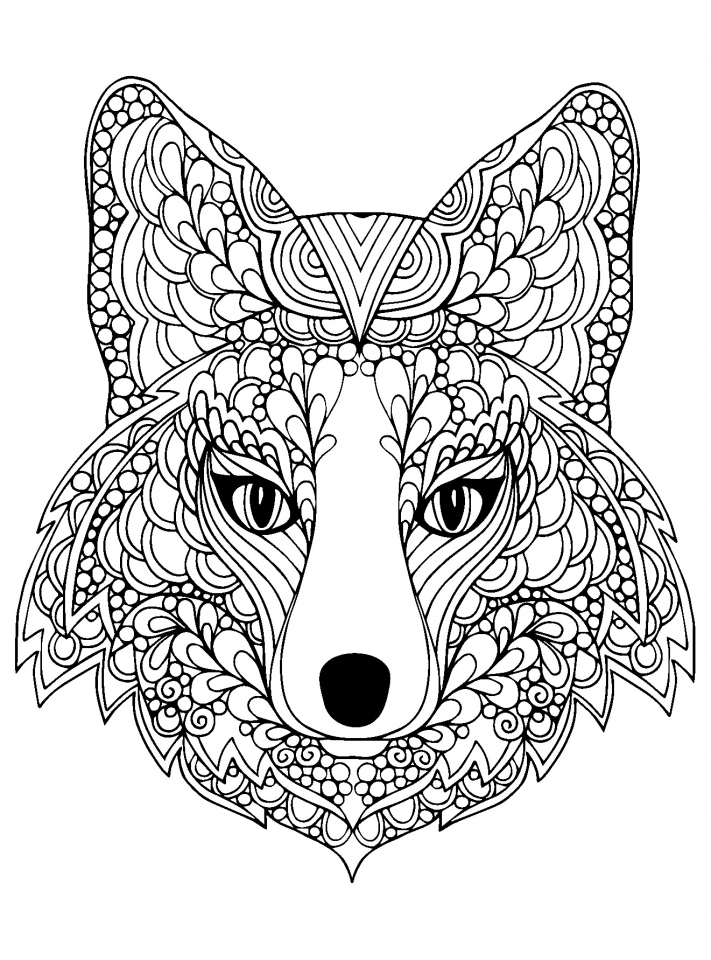 Get This Wolf Coloring Pages for Adults Free Printable 96993