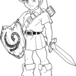 Zelda Breath Of The Wild Lynel Coloring Pages