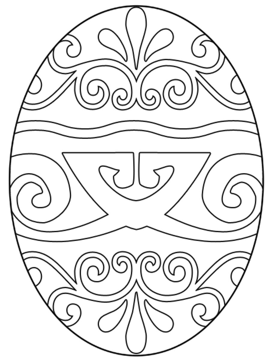 Free Easter Egg Coloring Pages | Holidappy