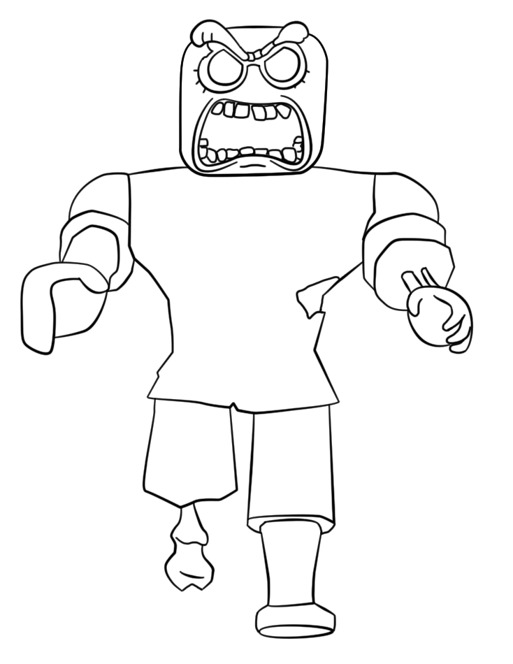 Roblox Zobie Coloring Page - Free Printable Coloring Pages ...