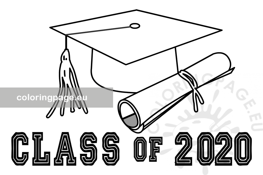 Free printable Class of 2020 Graduation - Coloring Page