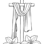 Easter Cross Coloring Pages Printable