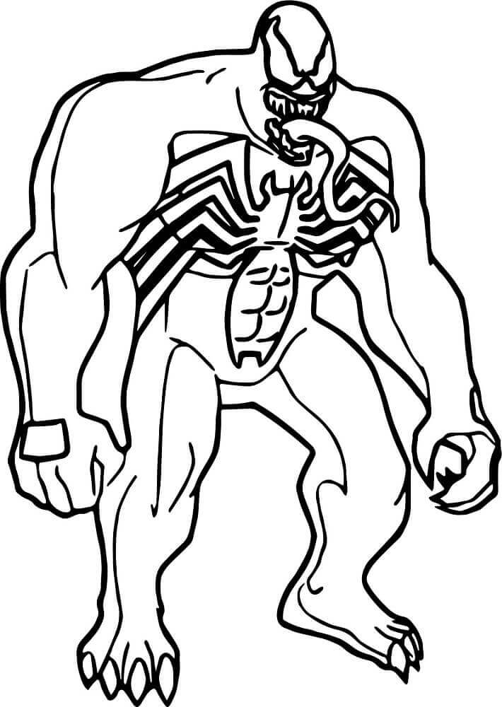 15 Free Printable Venom Coloring Pages