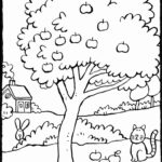 Coloring Pages Apple Tree