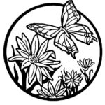 Coloring Pages Of Flowers And Butterflies
