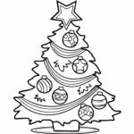 Coloring Pages Christmas Tree Printable
