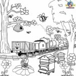 Train Coloring Book For Adults