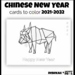 Chinese New Year Colouring Pages 2021