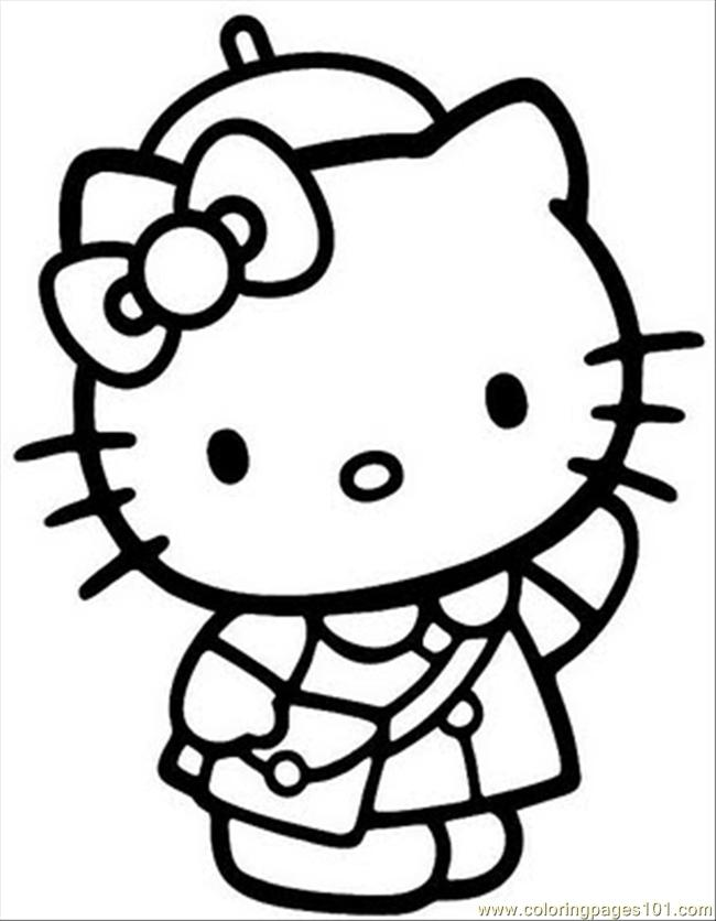 Hellokitty4 Coloring Page - Free Hello Kitty Coloring ...