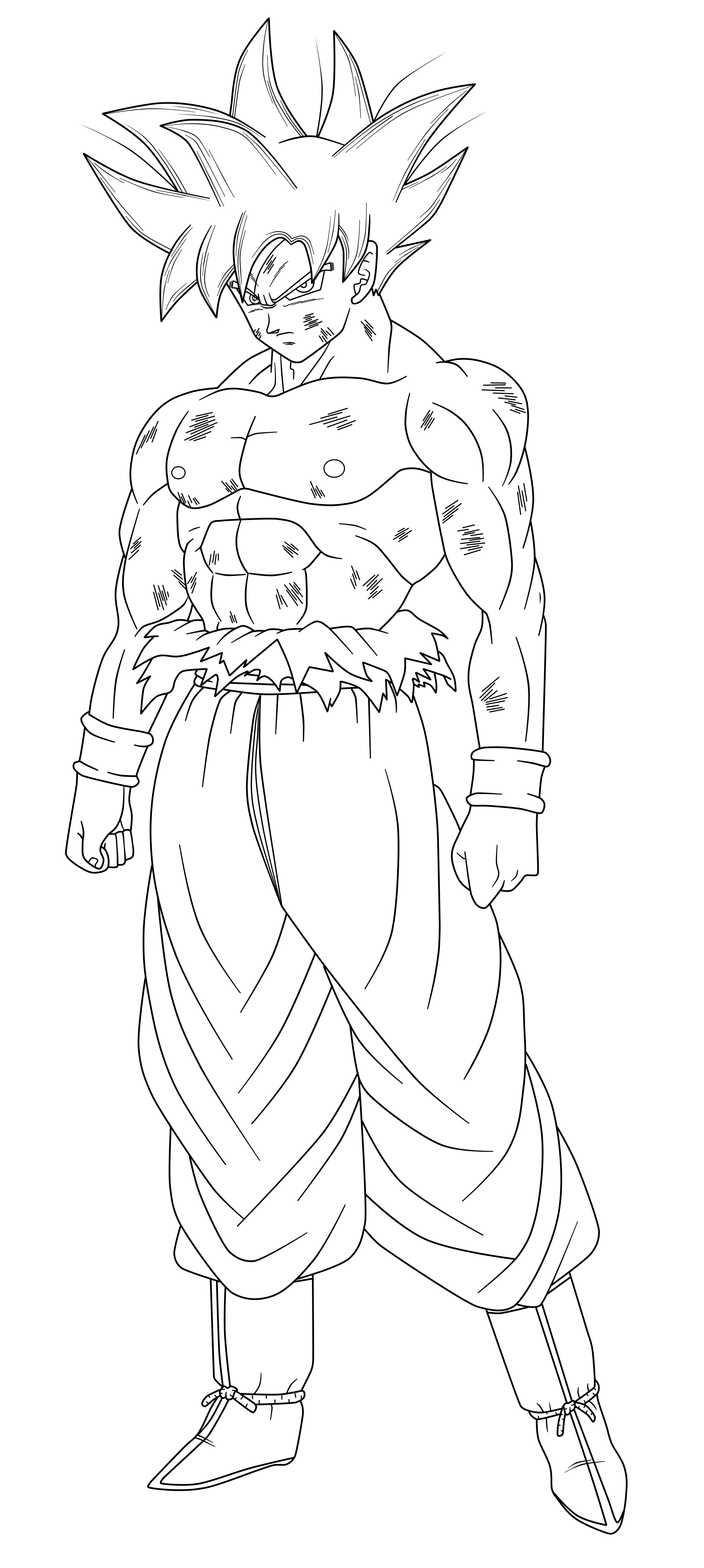 Goku Ultra Instinct - Free Coloring Pages