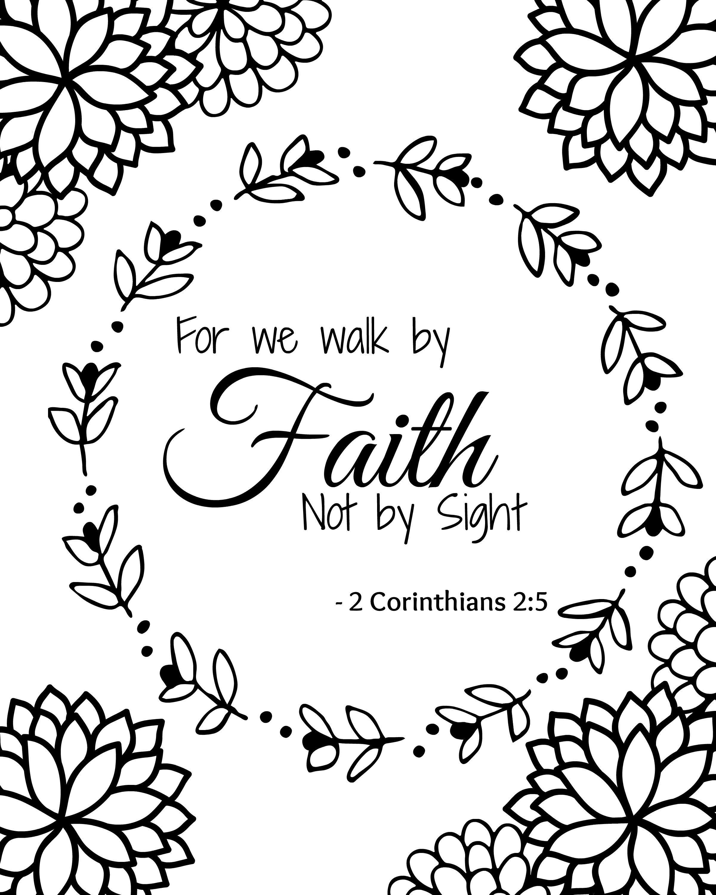MUST HAVE FREE BIBLE VERSE PRINTABLE COLORING SHEETS ...