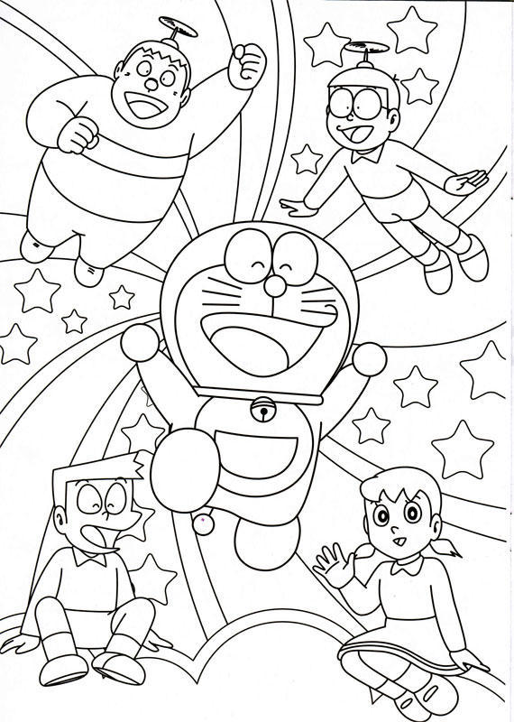 Doraemon Coloring Pages   Minister Coloring