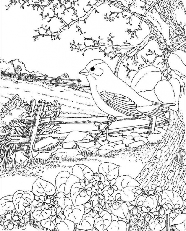 FREE 10+ Spring Coloring Pages in AI