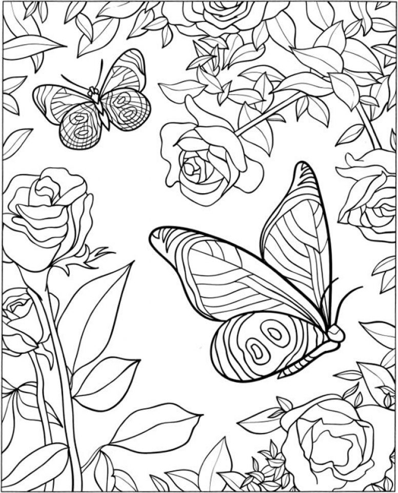 Get This Free Printable Butterfly Coloring Pages for ...